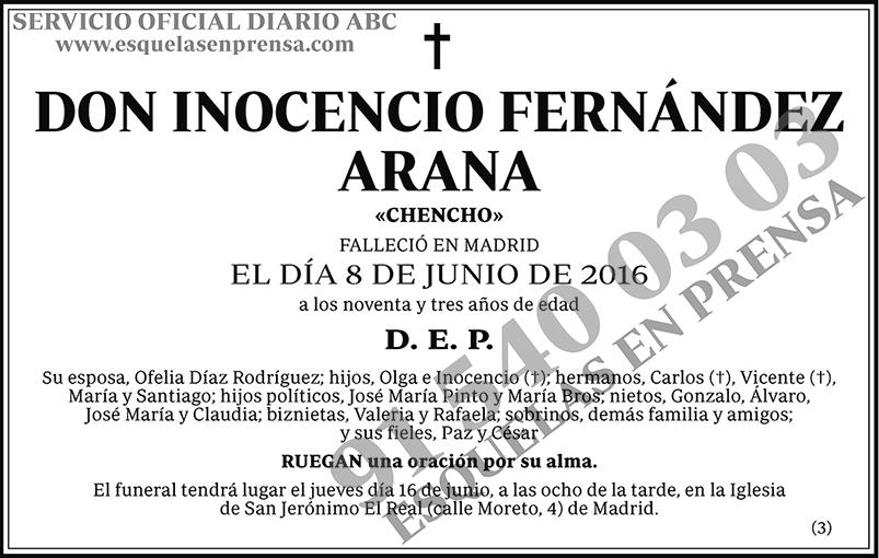 Inocencio Fernández Arana